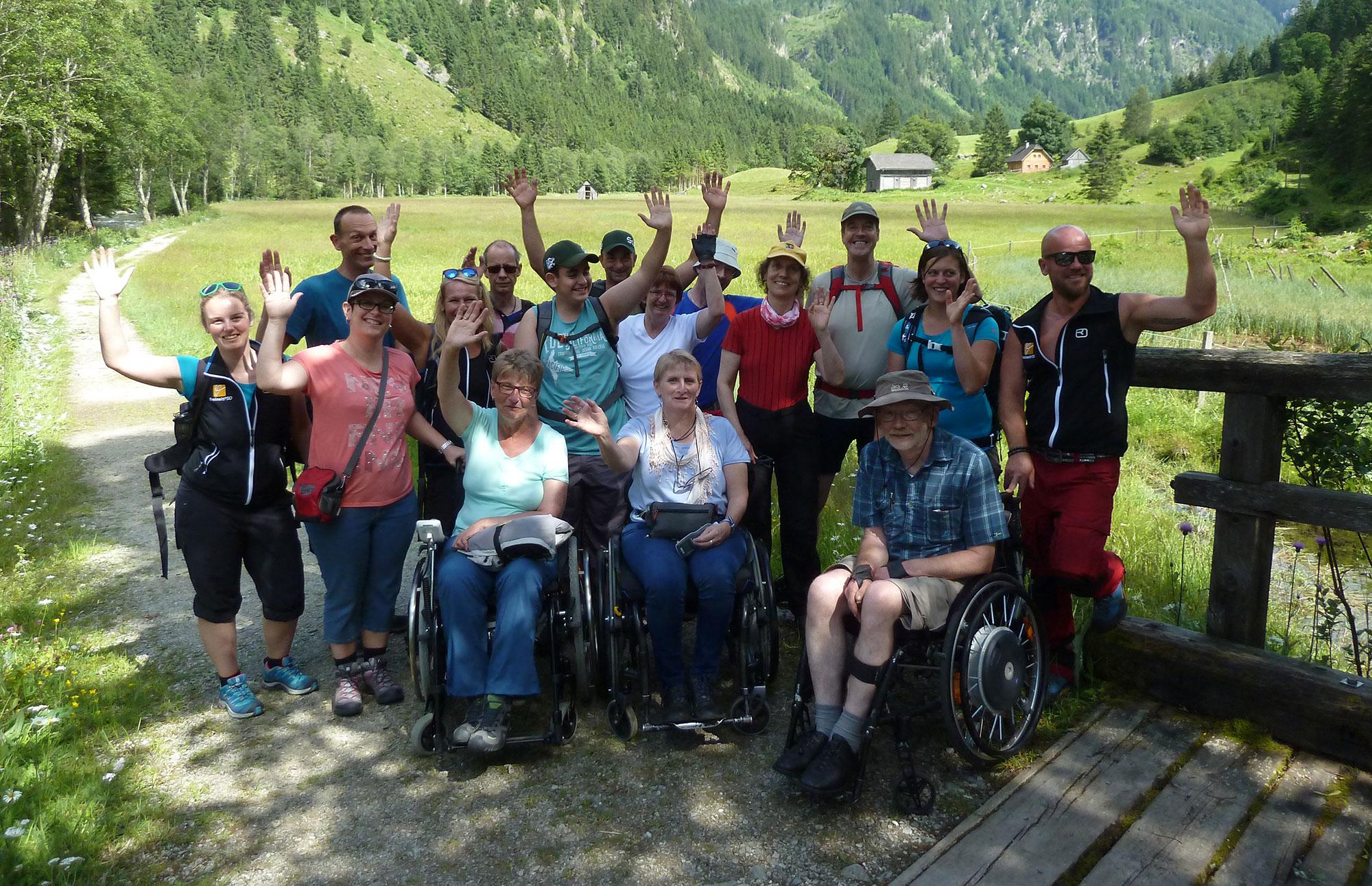 Menschen mit körperlichen oder geistigen Behinderungen
