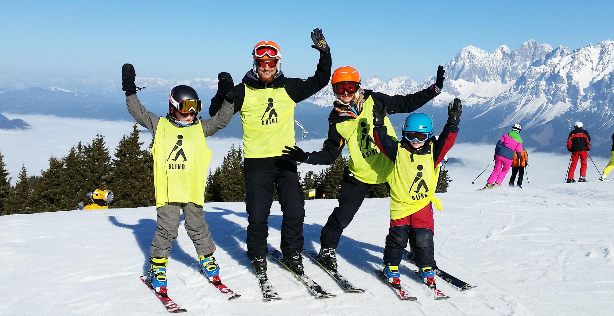 Skifahren mit Sehbehinderung