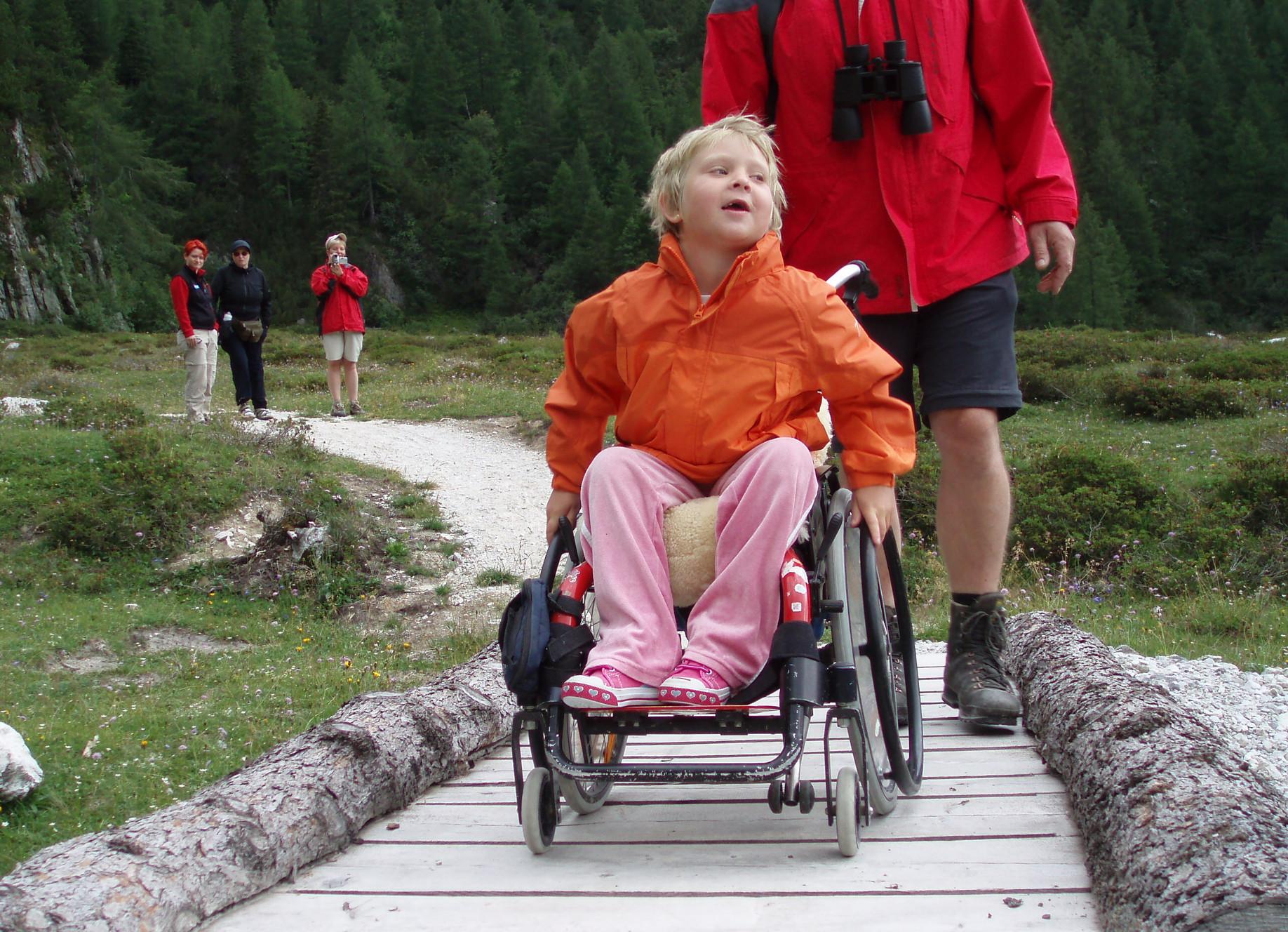 Rollstuhlgerechte Wanderung
