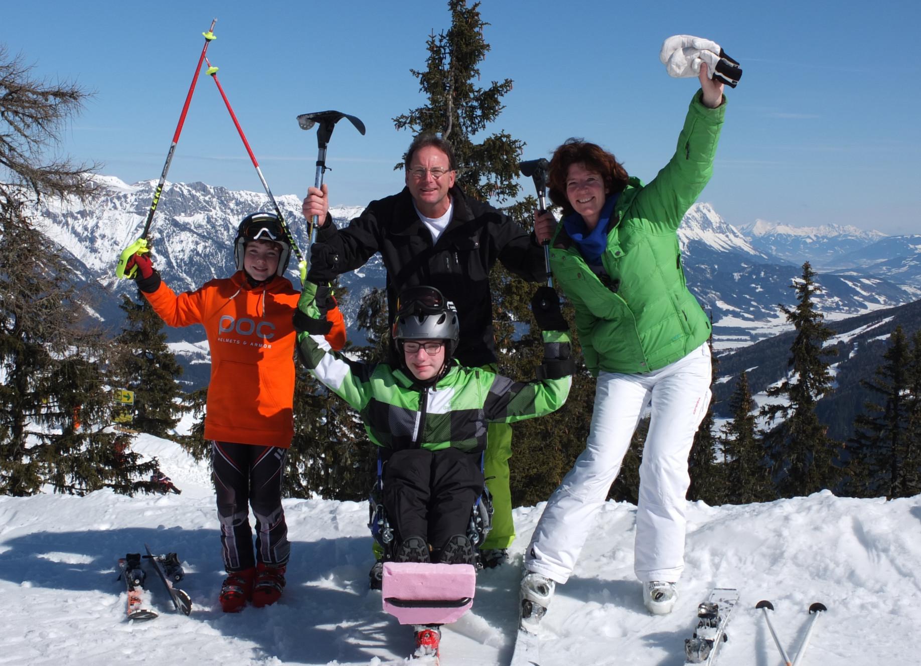 Eltern- und Begleitertraining mit Sitz-Ski