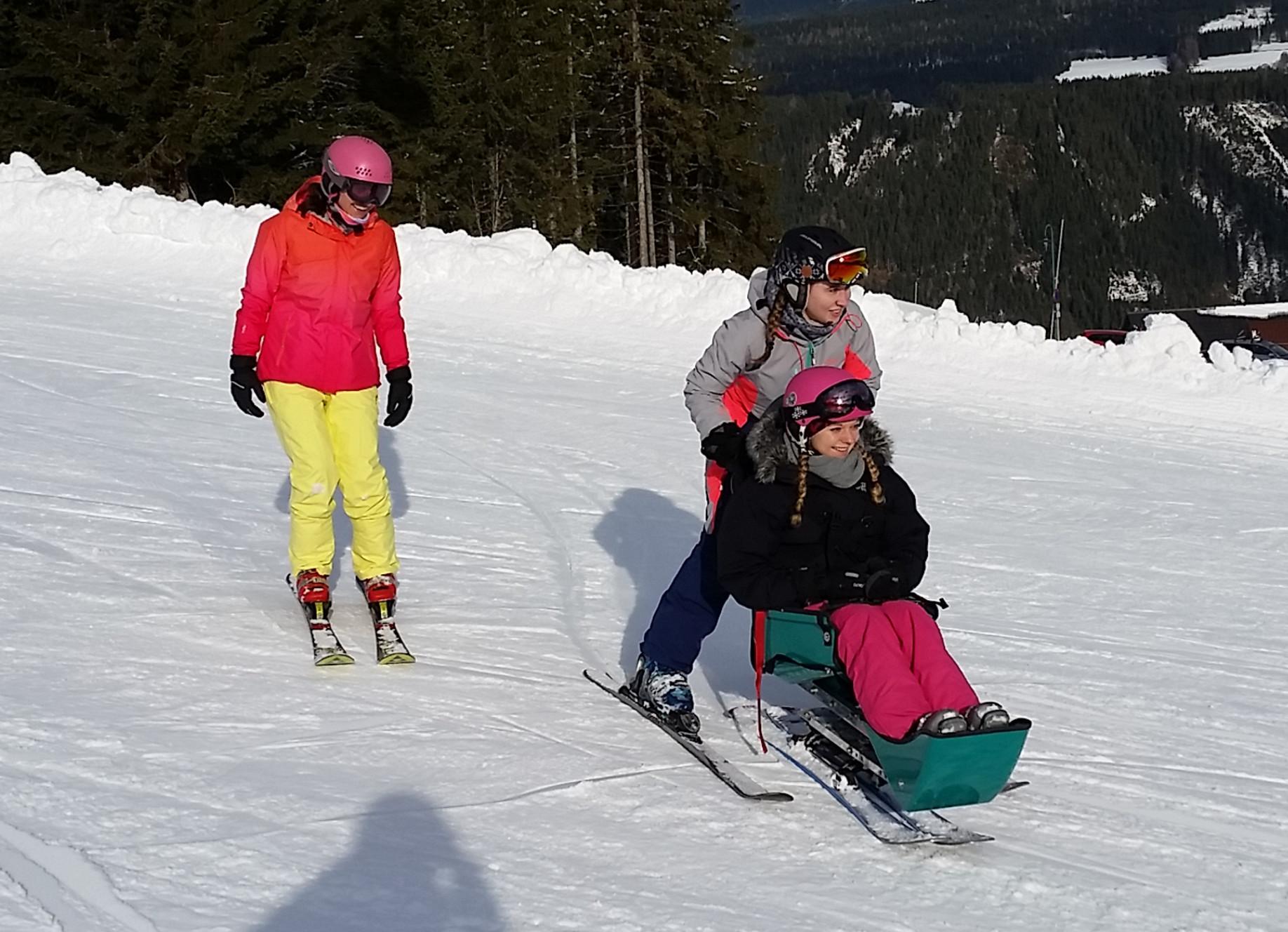 Eltern- und Begleittraining Behindertenskilauf
