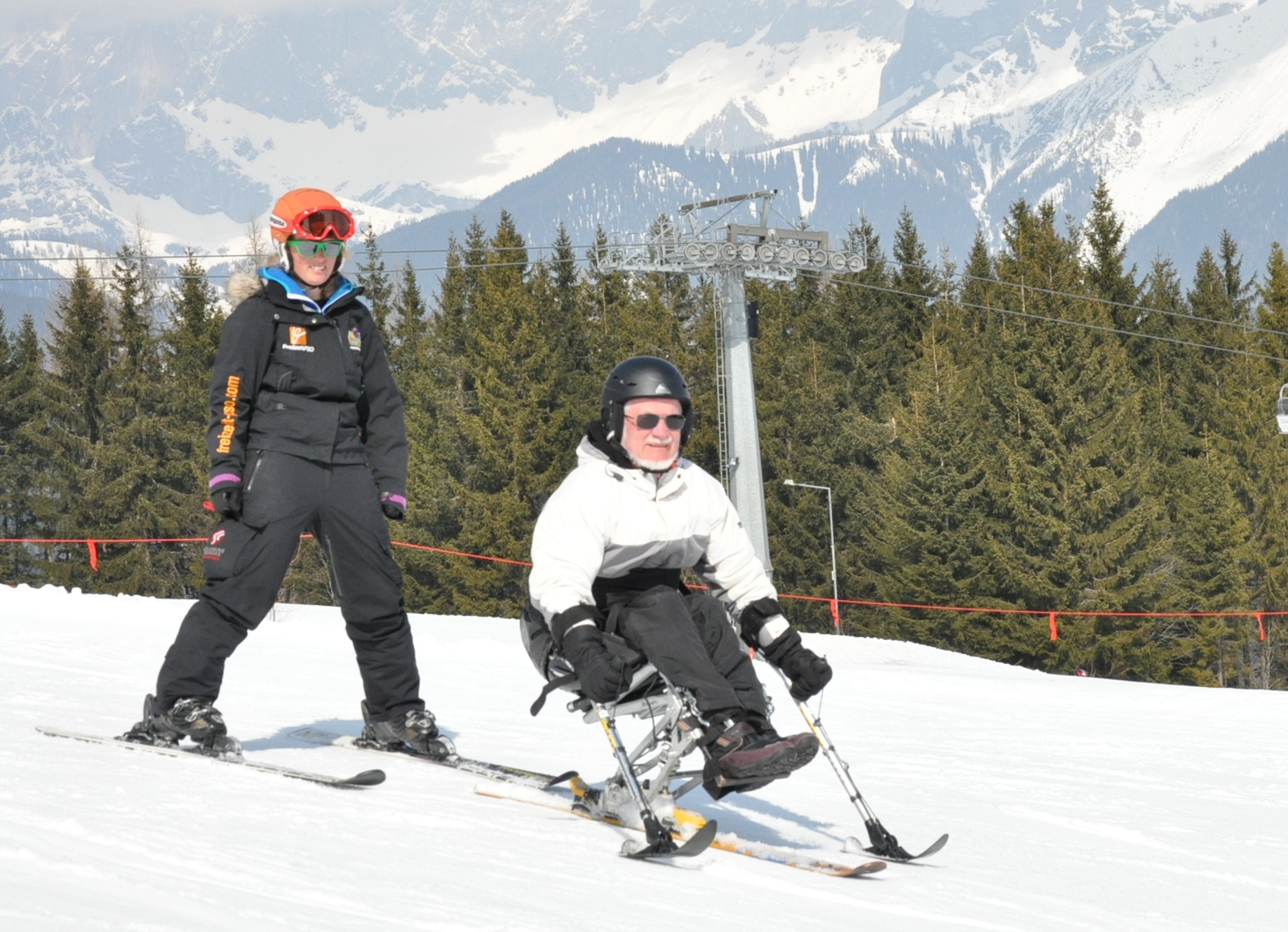 Eltern- und Begleitertraining Mono-Ski