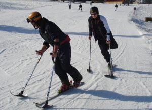 Krücken-Skilauf