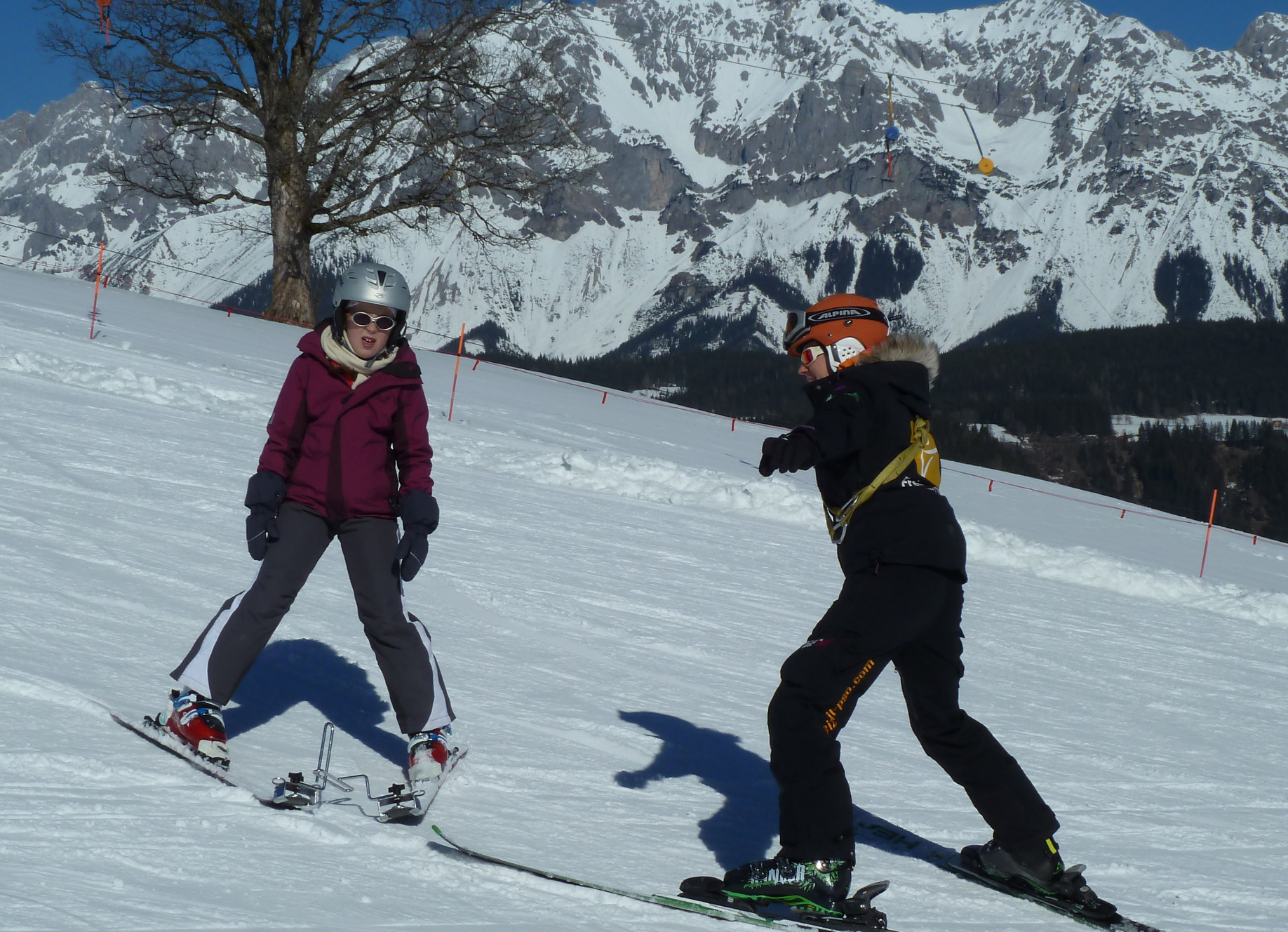 Skifahren für Menschen mit Lernbehinderung