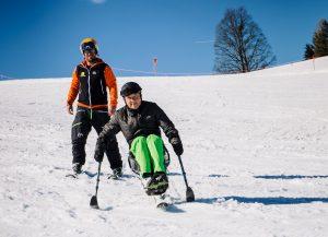 Mono-Skifahrer