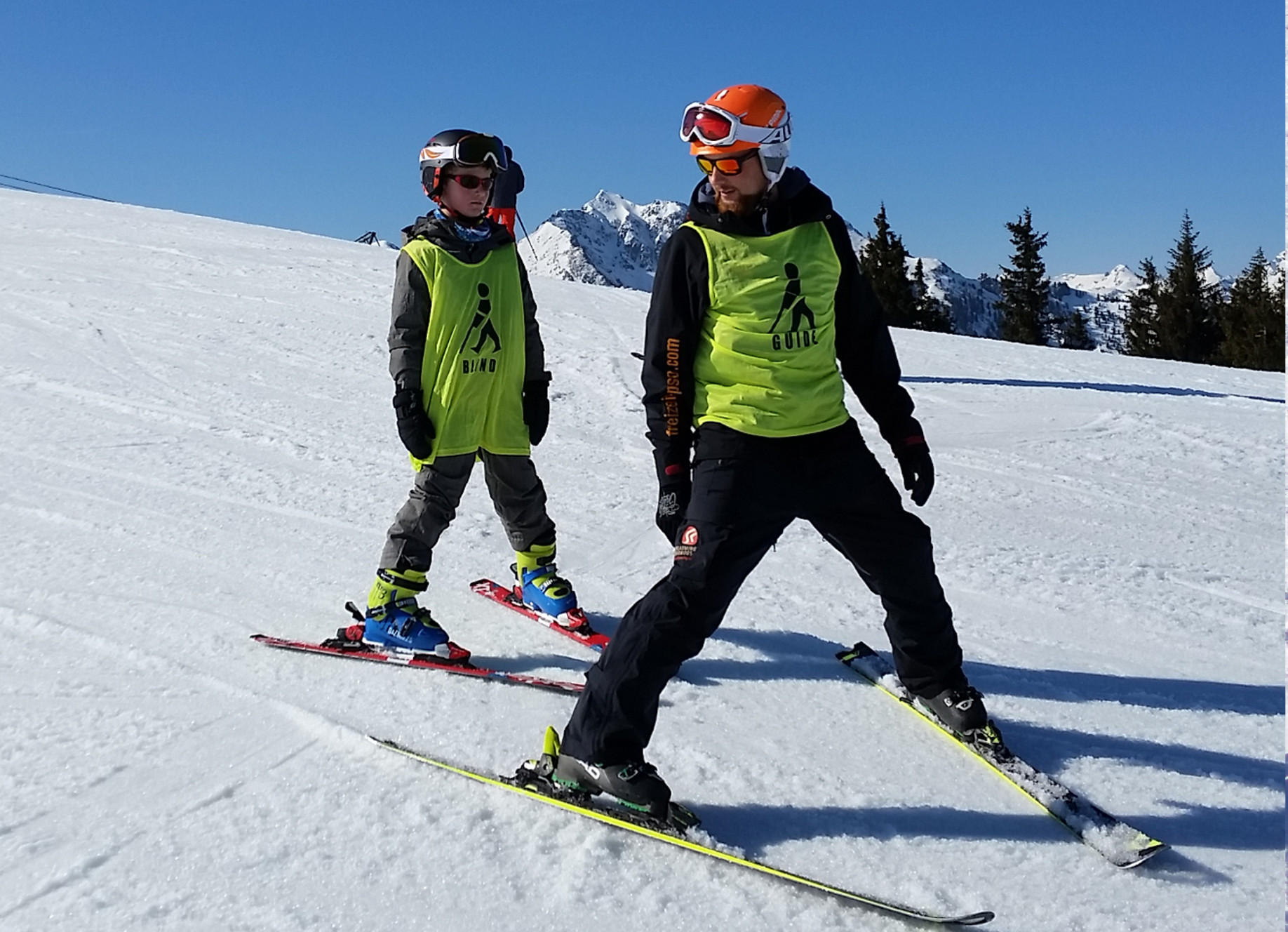 Skiing with visual impairment