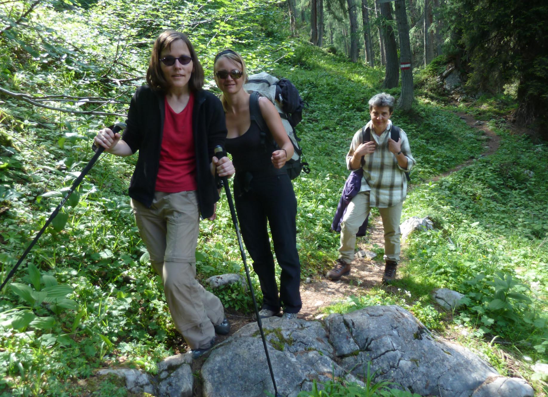 Wanderung mit Gehbehinderung