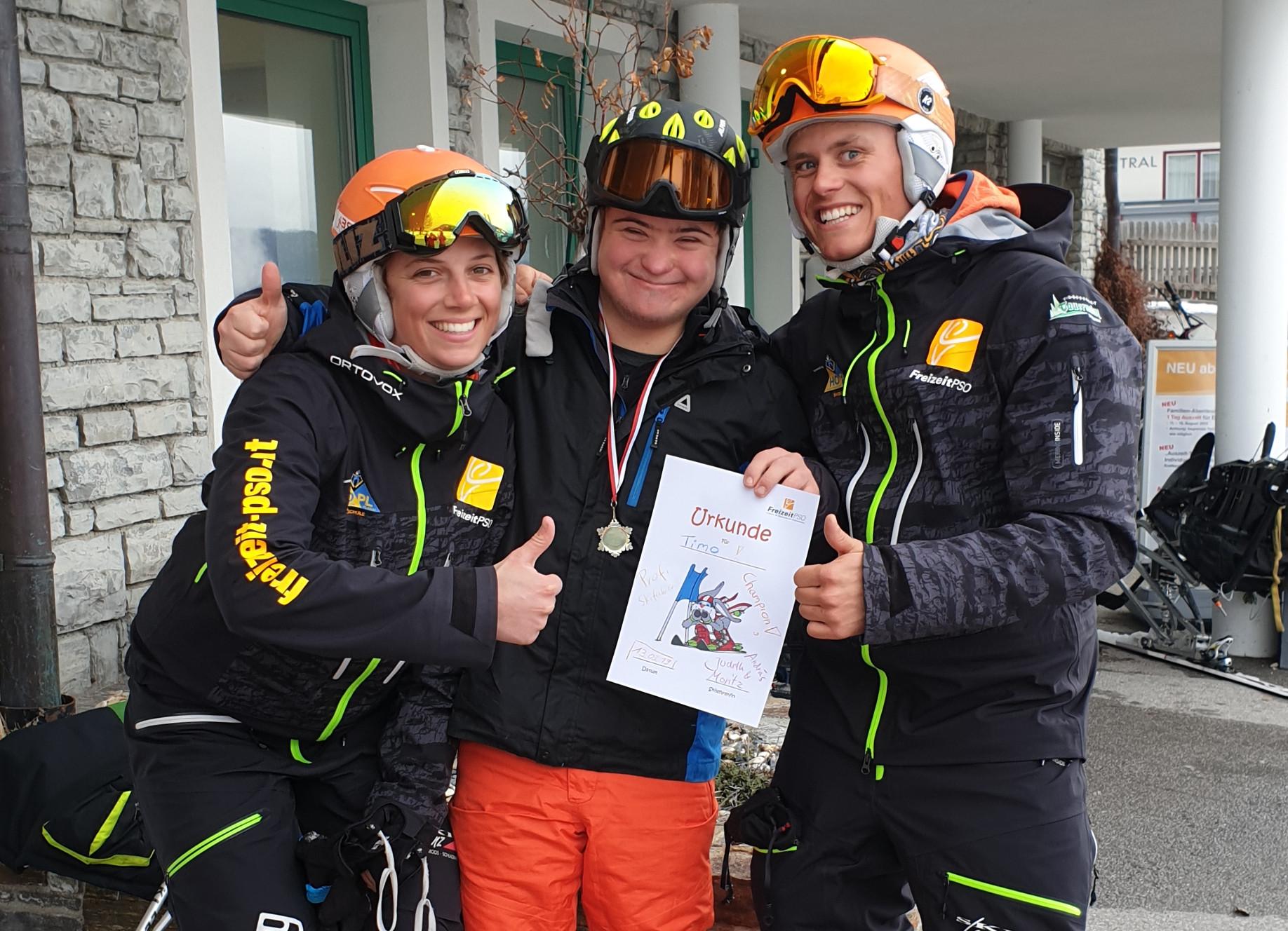 Job als Skilehrer für Menschen mit Behinderung