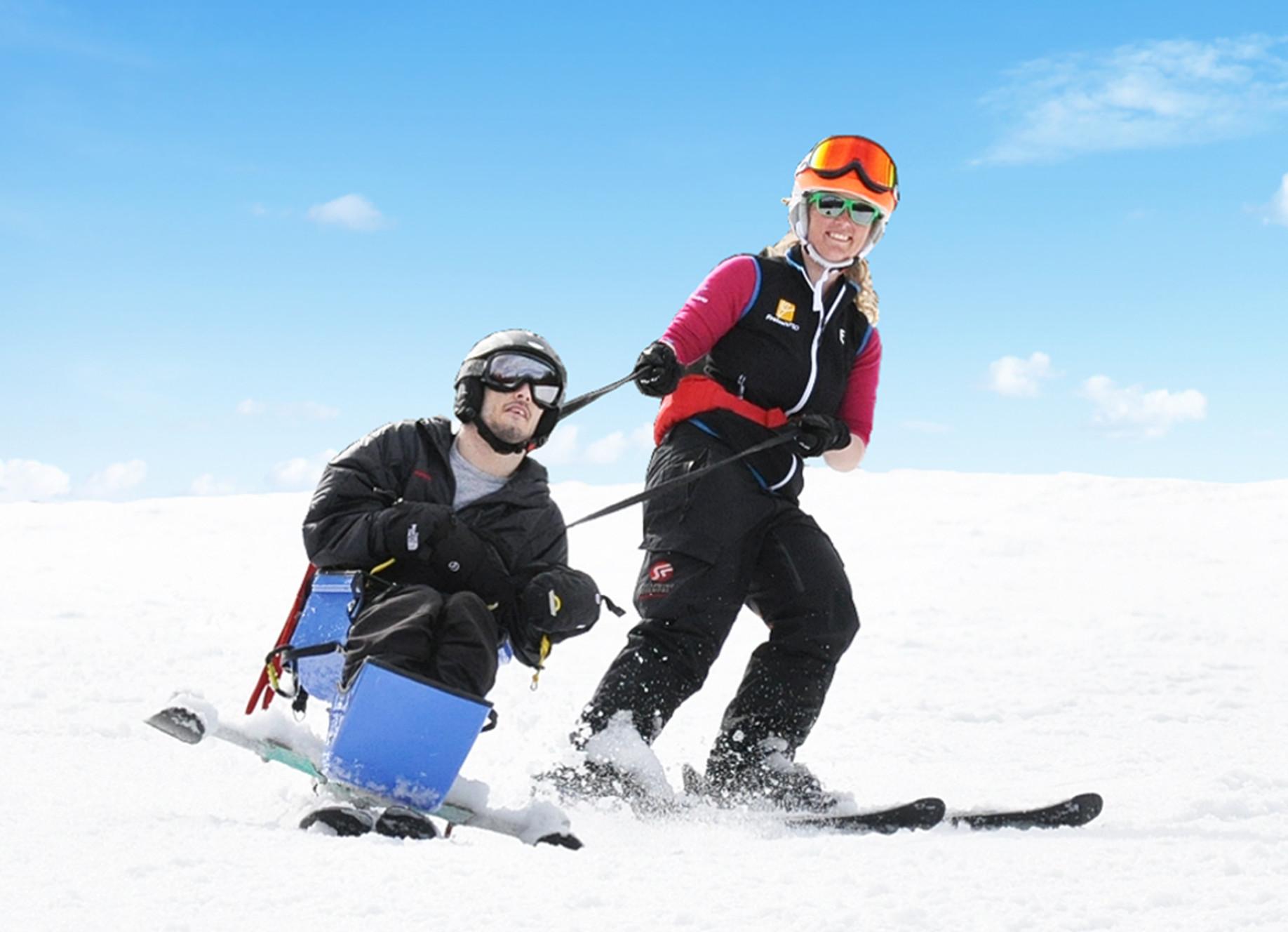 Sitz-Ski Mountain Man für Rollstuhlfahrer