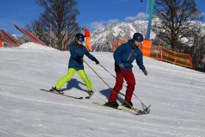 Skifahren mit Ski-Links