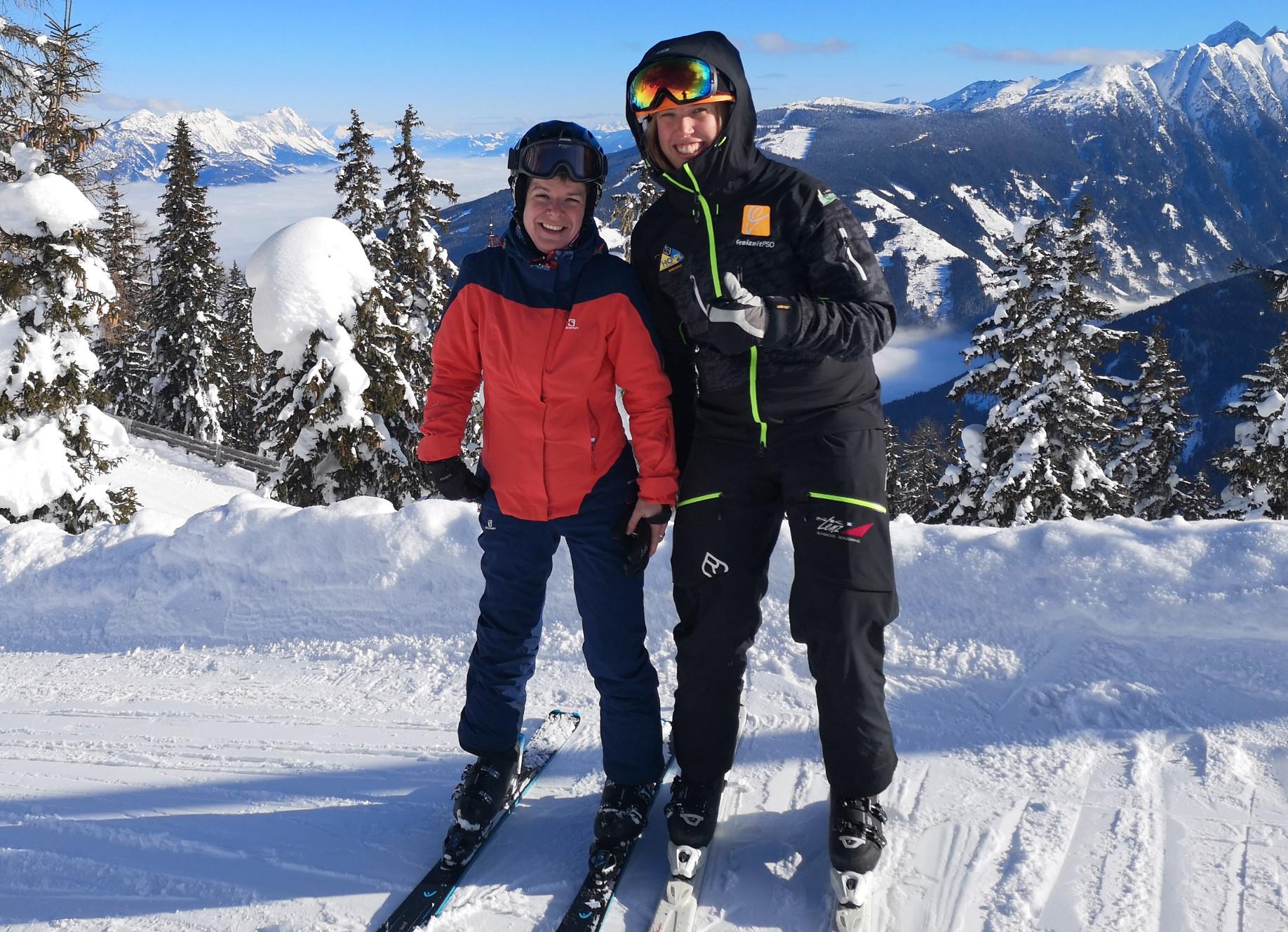 Training Skilauf stehend