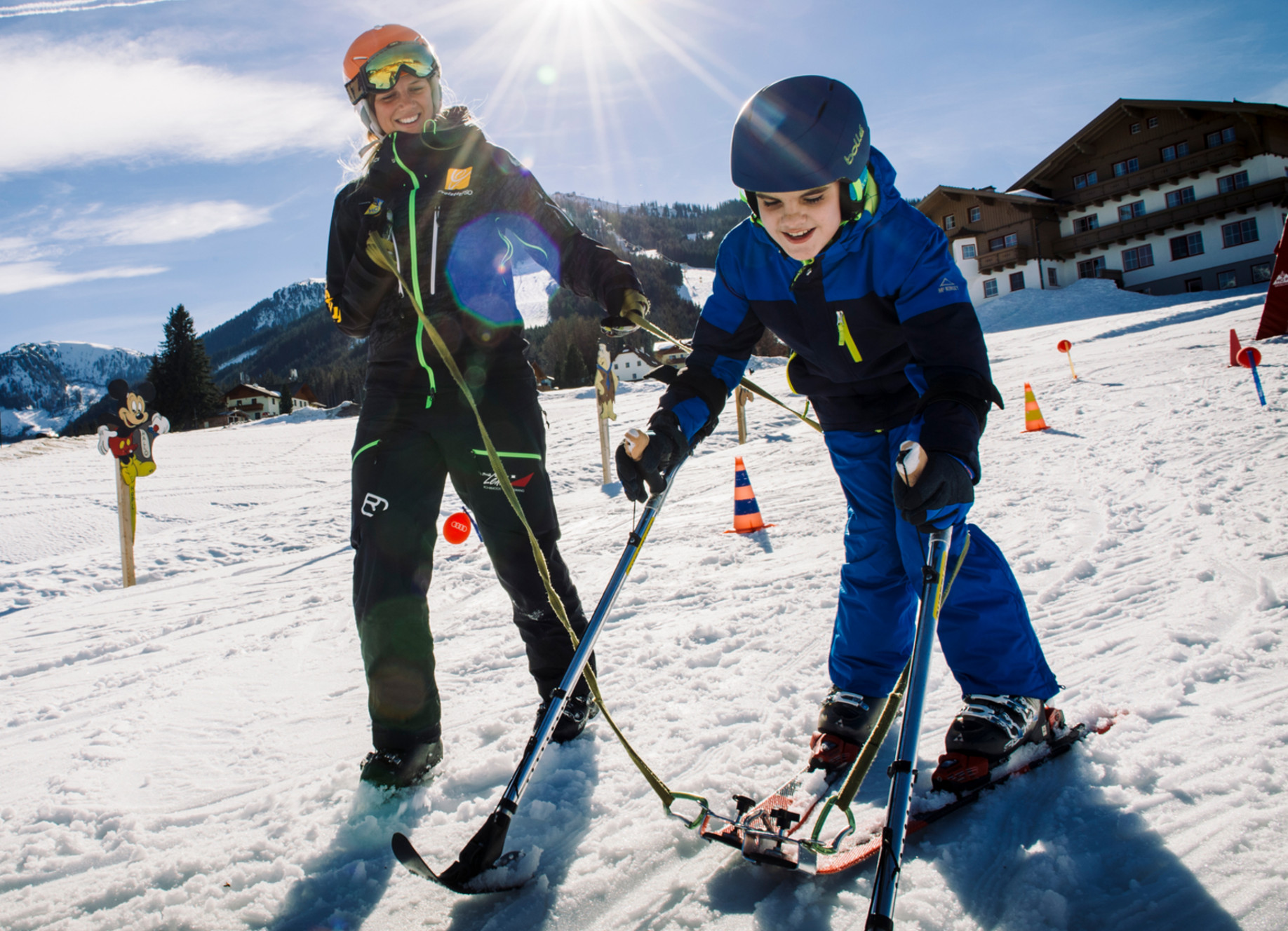 Ausbildung Krückenskilauf