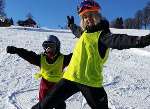 Skifahren mit Sehbeeinträchtigung