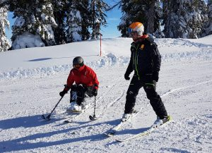 Mono-Skifahren
