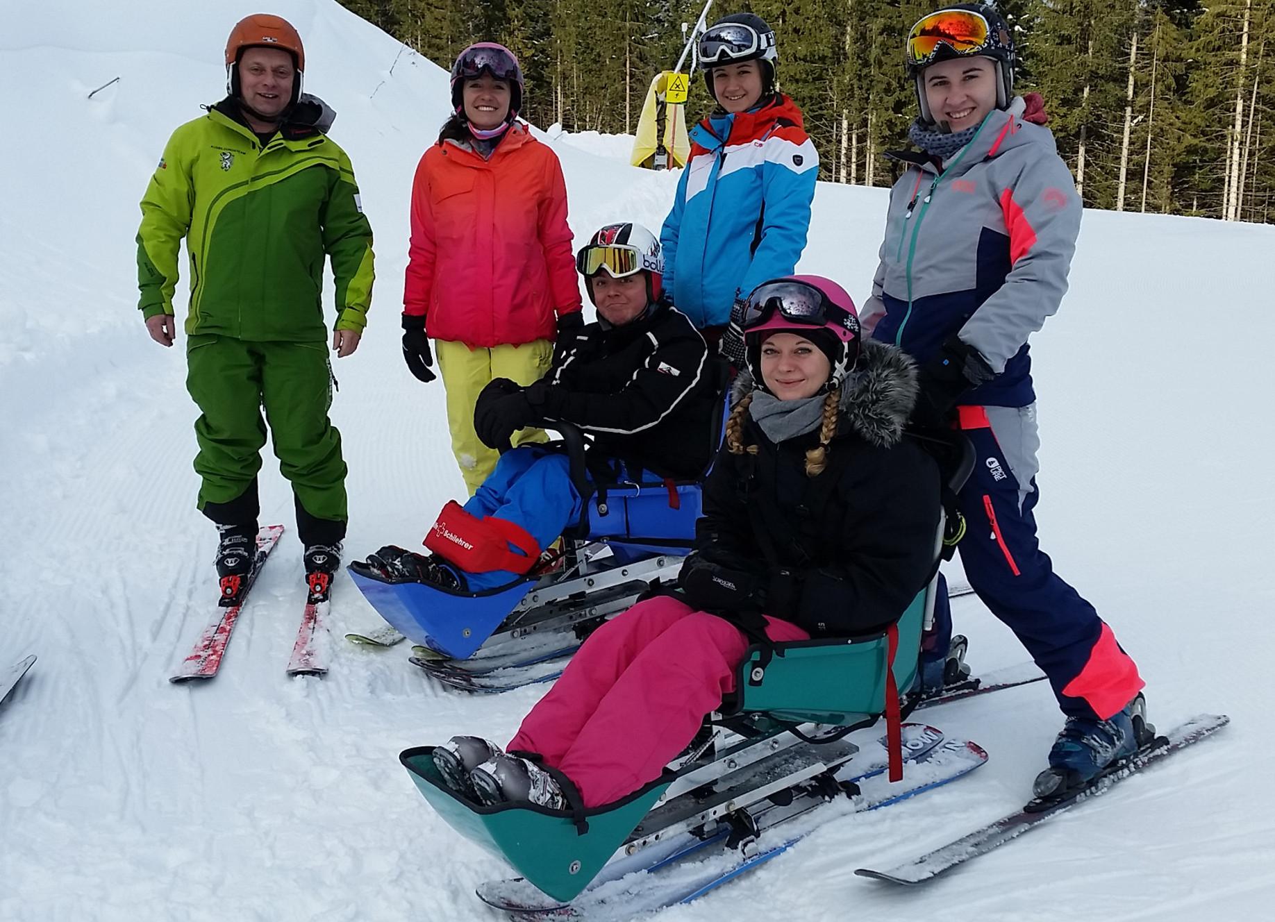 Training Ausbildung Behindertenskilauf